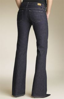 Paige Hollywood Hills Bootcut Stretch Jeans (Dark Resin Wash)