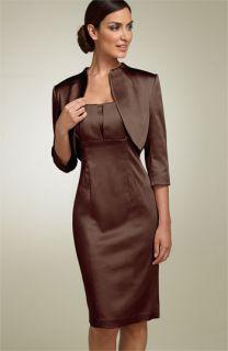 Calvin Klein Stretch Satin Dress with Jacket
