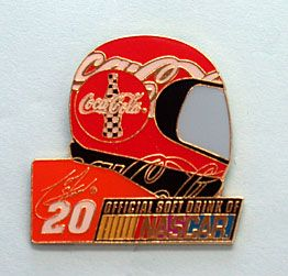 GREAT COLLECTIBLE PIN FOR NASCAR, COCA COLA AND TONY STEWART FANS
