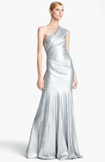 Donna Karan Collection One Shoulder Sequin Gown