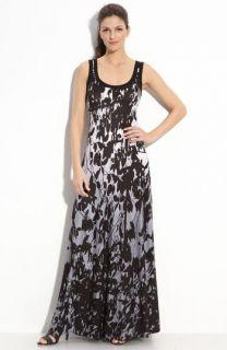 Karen Kane Sleeveless Print Maxi Dress