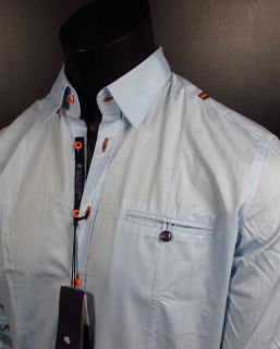 Shirt Stone Rose Blue Slim Collection LED 773 Button Up Woven