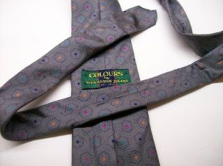 Colours by Alexander Julian Gray Colored Dots Silk Necktie 10 26 SP