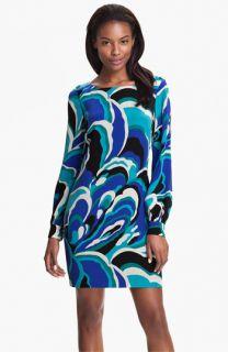 Trina Turk Elektra Printed Silk Shift Dress