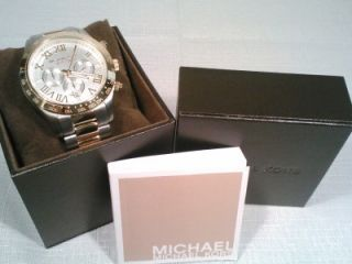 Michael Kors Two Tone Stainless / Gold Layton Chronograph Mens Watch