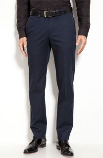 Versace Flat Front Cotton Twill Trousers