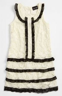 Paper Doll Lace Ruffle Dress (Little Girls)