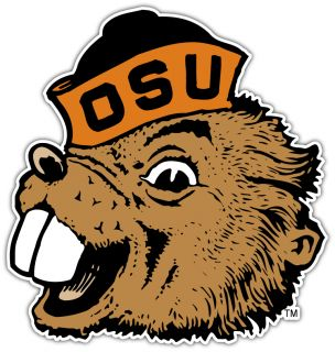 Beavers NCAA College Car Bumper Window Sticker Decal 4 5X5