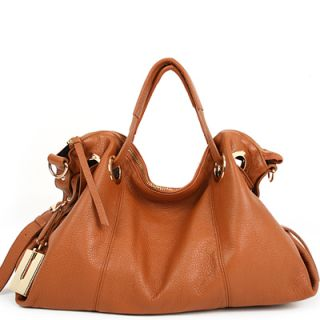 Genuine Leather JS Handbag Tote Satchel Cross Strap
