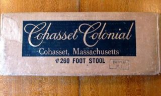 Vintage NEW Cohasset Massachusetts Colonial #260 Foot Stool Kit By