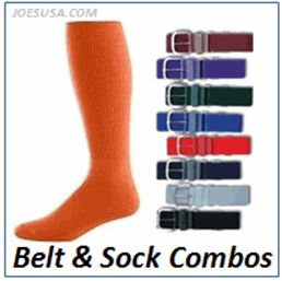 Joes USA Baseball Socks Baseball Belt Combo 2 Pair Socks 1 Belt