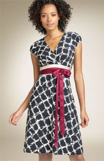 BCBGMAXAZRIA Obi Waist Matte Jersey Dress