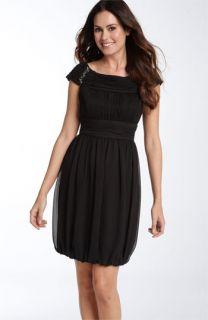 Donna Ricco Beaded Chiffon Bubble Dress