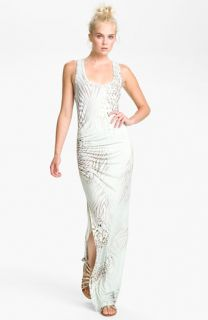 Young, Fabulous & Broke Print Maxi Dress