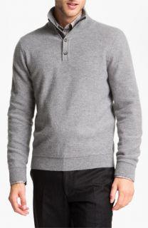 Orlandini Wool & Angora Mock Neck Sweater