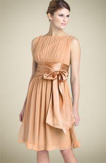Maggy London Bateau Neck Chiffon Dress