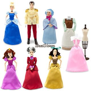 Deluxe Cinderella Doll Set Prince Stepmother Stepsisters