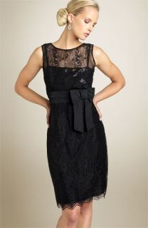 Tahari by Arthur S. Levine Sequined Lace Cocktail Dress