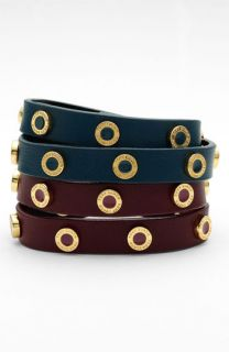 Tory Burch Cole Logo Double Wrap Bracelet