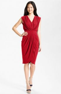 Suzi Chin for Maggy Boutique Double V Draped Jersey Dress