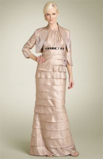 Adrianna Papell Shutter Pleat Gown with Bolero Jacket