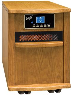 comfort zone cz2011o oak infrared quartz heater condition new product
