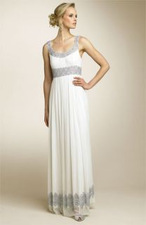 Adrianna Papell Beaded Chiffon Gown