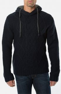 7 Diamonds Portillo Cable Knit Sweater with Removable Hood