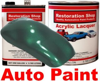 Rally Green Metallic Acrylic Lacquer Car Auto Paint Kit