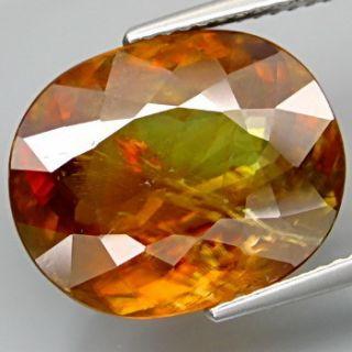Good Color Natural BIG Rich Orange Sphene With Rainbow Color Spark