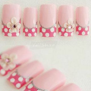 500 Pcs Acrylic French Half False Nail Art Tips Natural Color