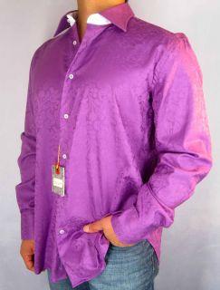 158 Robert Graham Colin Dress Shirt Paisley Floral Sz 39 44 M L XL
