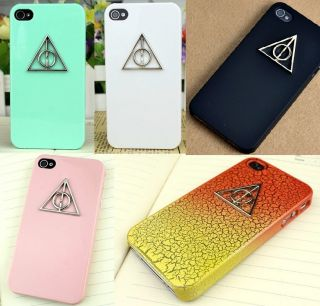 Deathly Hallows Harry Potter Green White Pink Colored Hard Case