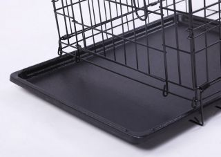 Neptune』30 2 Door Folding Pet Dog Metal Crate Cage Kennel with