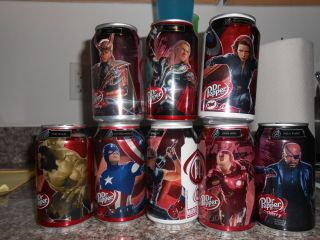 Avengers Collectible Dr Pepper Cans