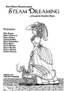 Steam Dreaming Punk Clockwork Coloring Book New Dragons