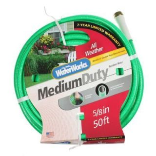 Waterworks 50ft. Garden Hose All Weather Medium Duty Lawn Care Yard