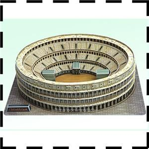 3D Puzzle 3 D Jigsaw Puzzles Colosseum Italy Building 84 Pieces SHIP