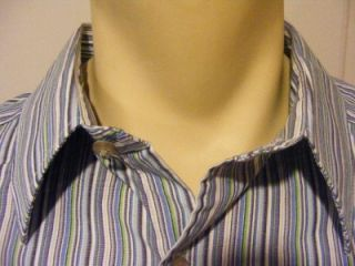 Mens Alexander Julian Colours Long Sleeve Button Up XL x Large Shirt