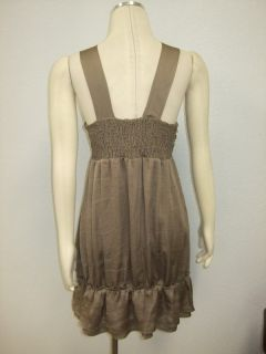 DESCRIPTION  NWT HOLY Codi Studio Brown Smocked Bow Front Dress $164
