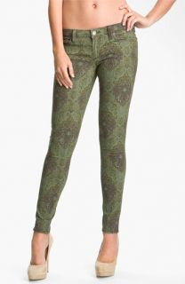 Paige Verdugo Print Skinny Jeans (Estate Green Paisley)
