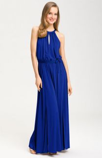 Maggy London Iridescent Jersey Maxi Dress