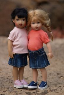 Sandwashed Dark Blue Colvin Jeans Skirts for Riley & friends