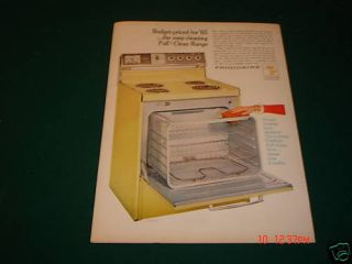 1965 Frigidaire Easy Pull N Clean Oven Range Ad