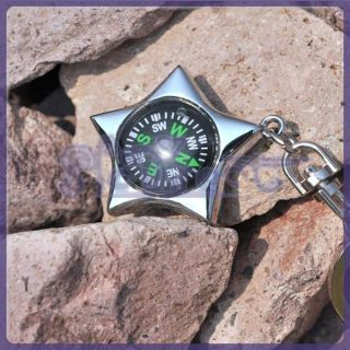 Creative Compass Outdoor Sport Favor Five Pointed Star Pendant Key
