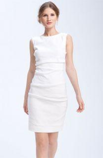 Nicole Miller Stretch Linen Sheath Dress