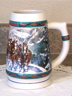 1993 Budweiser Beer Holiday Stein Collection Special Delivery Anheuser