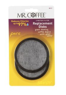Mr Coffee Water Filter Replacement Disc 2 Pack