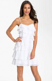 Calvin Klein Tiered Chiffon Shift Dress