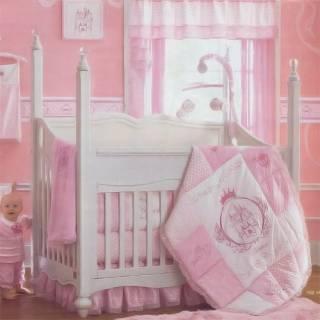 White Finish Disney Princess 4in1 Convertible Baby Crib